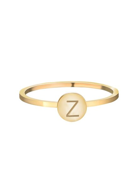 ALPHABET RING GOLD