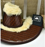 Ascot's Finest Jumping boots - brown crocodile Size M - XXL
