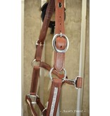 Ascot's Finest Brown leather halter with fine strass - Pony, Cob and Full