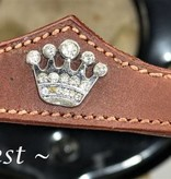 Ascot's Finest Brown cowhide leather with crowns - Pony