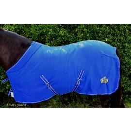 Ascot's Finest Blauwe fleecedeken met kroon