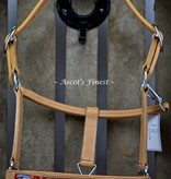 Ascot's Finest Cowhide leather halter cut out and colour - Full. Cob and Pony
