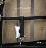 Ascot's Finest Lederen halster met strass versierd – Maat Xfull, Full en Cob