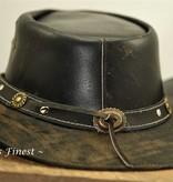 Ascot's Finest Donkergevlekte rundlederen hoed