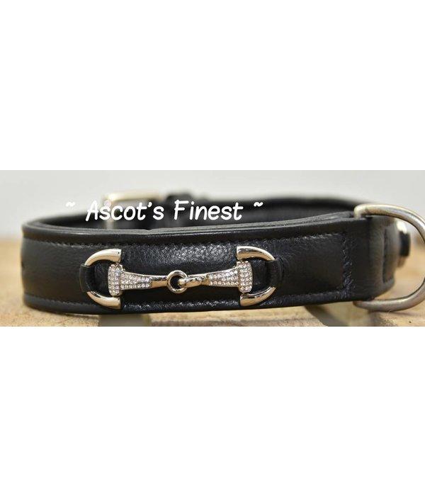 Ascot's Finest Zwart rundleer met bitten - 55 cm 60 cm 65 cm
