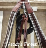 Ascot's Finest Cognac brown breast girth with rhinestones - Full, Cob and Pony