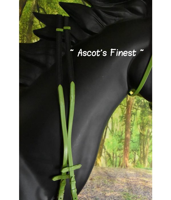 Ascot's Finest Green bridle - Pony, Cob and Full