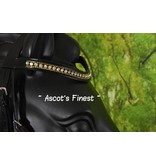 Ascot's Finest Black cowhide leather dropped noseband - Shet, Pony, Cob and Full