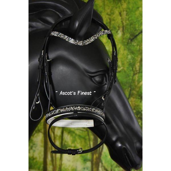 Mini Shet black cow hide leather bridle