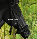 Ascot's Finest Black cowhide leather with crowns - Pony, Cob and Full