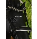Ascot's Finest Black leather dropped noseband bridle - Pony and Cob