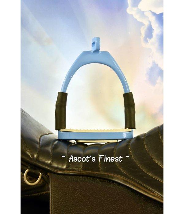 Ascot's Finest Lichtblauwe veiligheidsstijgbeugels met verdraaide ophanging