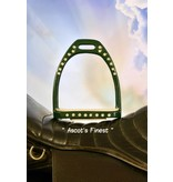 Ascot's Finest Groene strass stijgbeugels