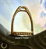 Ascot's Finest Bruine strass stijgbeugels