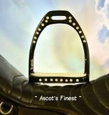 Ascot's Finest Zwarte strass stijgbeugels