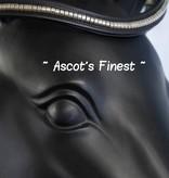 Ascot's Finest Zwart rundleer met zilverkleurige studs - 41,5 cm - maat Full