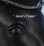 Ascot's Finest Zwart rundleer met Swarovski puntjes - 41,5 cm - Full