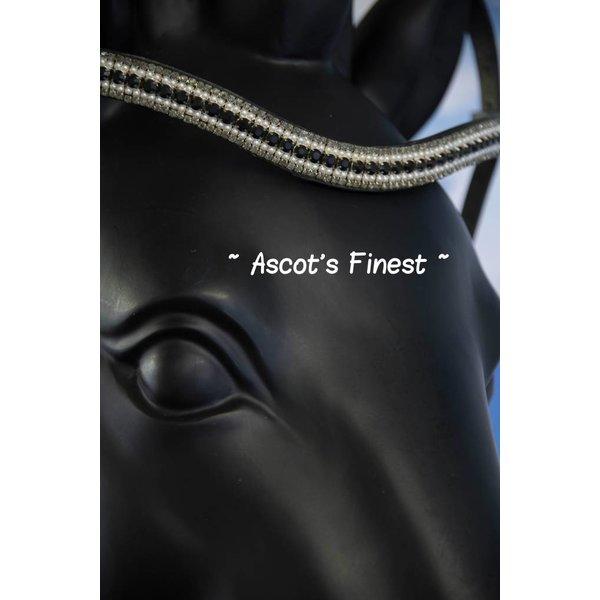 Frontriem - Zwarte strass en Parels