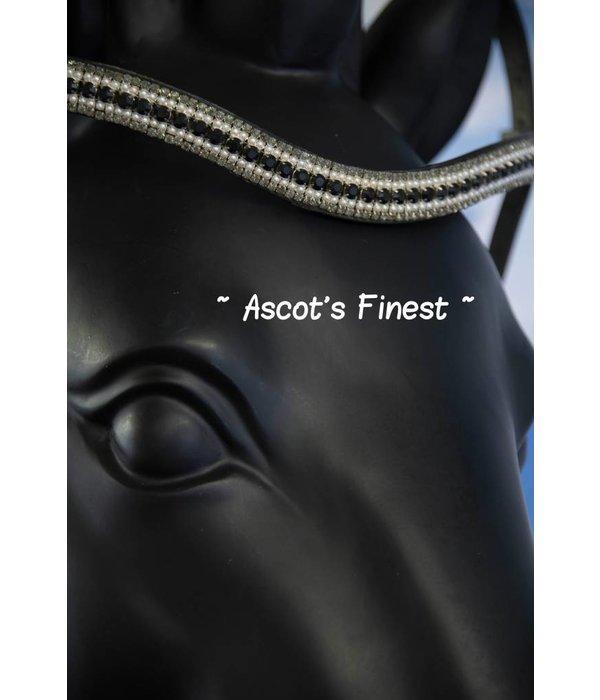 Ascot's Finest Frontriem - zwart strass en parels