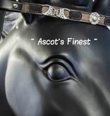 Ascot's Finest Zwart rundleer met stof en sjieke versieringen - 40 cm - Full
