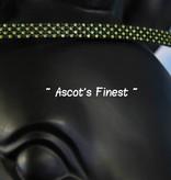 Ascot's Finest Zwart rundleer met groene en gele strass - 38 cm - Cob