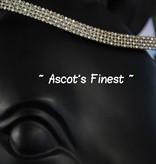 Ascot's Finest Zwart rundleer met gele en zilverkleurige strass - 41 cm - Full
