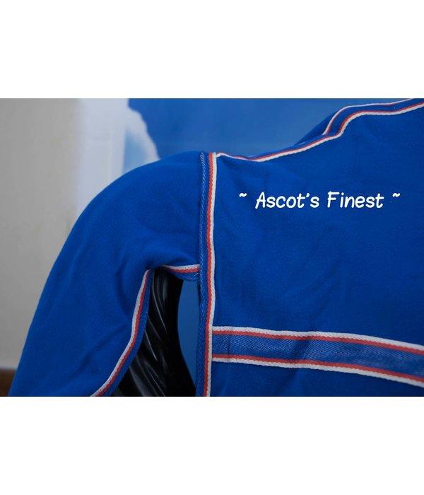 Ascot's Finest Fleecedeken blauw met hals