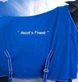Ascot's Finest Blauwe fleece deken met kroon 165 cm t/m 215 cm