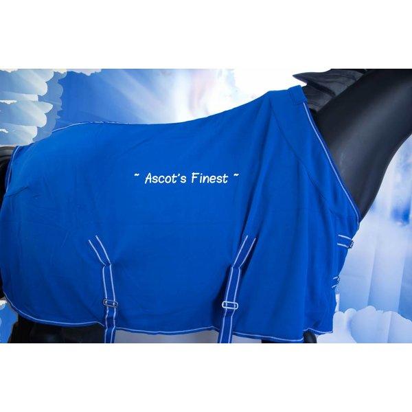 Blauwe fleece deken met kroon