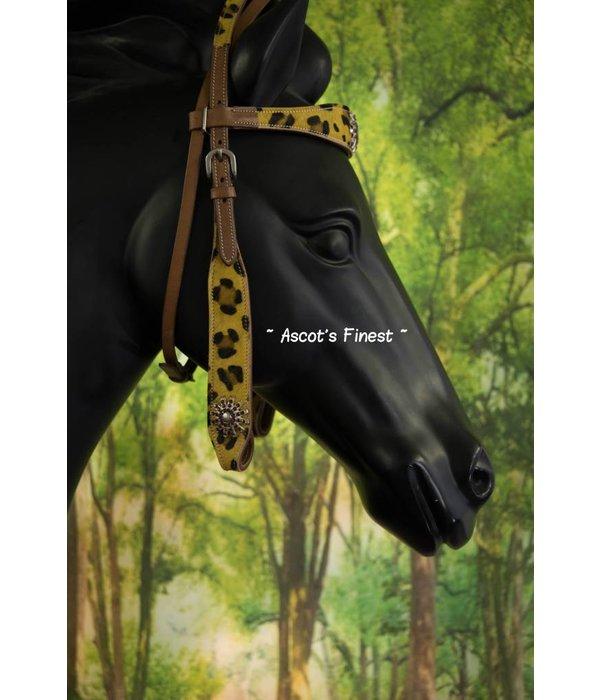 Ascot's Finest Western hoofdstel - Jaguar print - Maat Full - #021