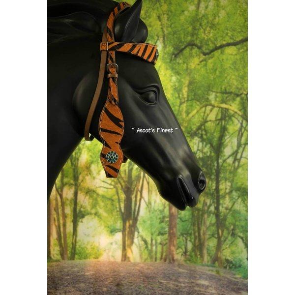 Western Hoofdstel - oranje print - Maat Full - #020