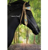 Ascot's Finest Western Hoofdstel met sierlijke bloem - Full, Cob en Pony