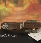 Ascot's Finest Bruin western-look riem met prachtig metalen versiering – 95 t/m 105 cm