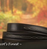 Ascot's Finest Bruin rundlederen riem met sjiek stiksel – 90 t/m 100 cm