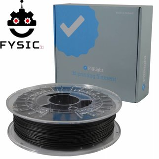 FilRight Fysic3D FilRight Pro CARBON - 2.85 mm - 500 gr - Zwart