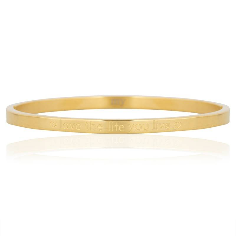 My Jewellery Quote Bangle Love The Life You Live Gold Je T