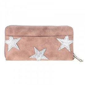 Stars Wallet - Old Pink
