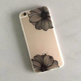 Telefoonhoesje Flower I Black - iPhone