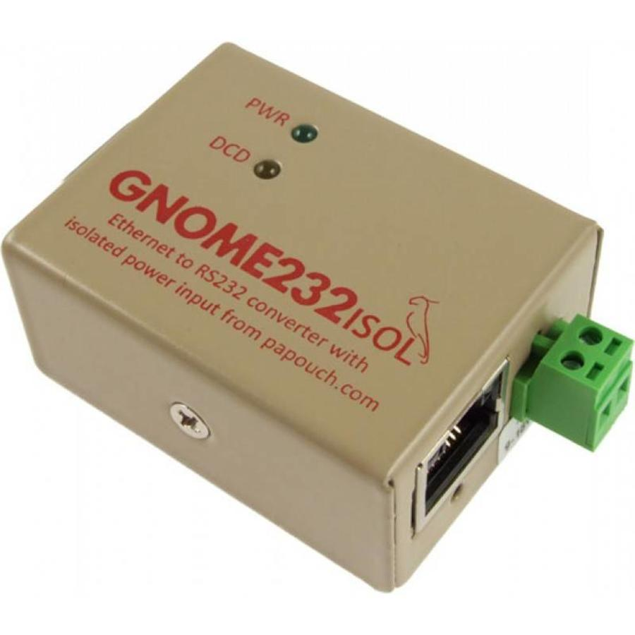 GNOME232 - Ethernet to RS232 converter