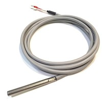 thumb-PT100/4-wire Temperatuur Sensor, 3 meter silicon cable-2
