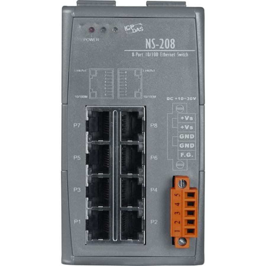 NS-208-CR Ethernet-switch / 8 poorten
