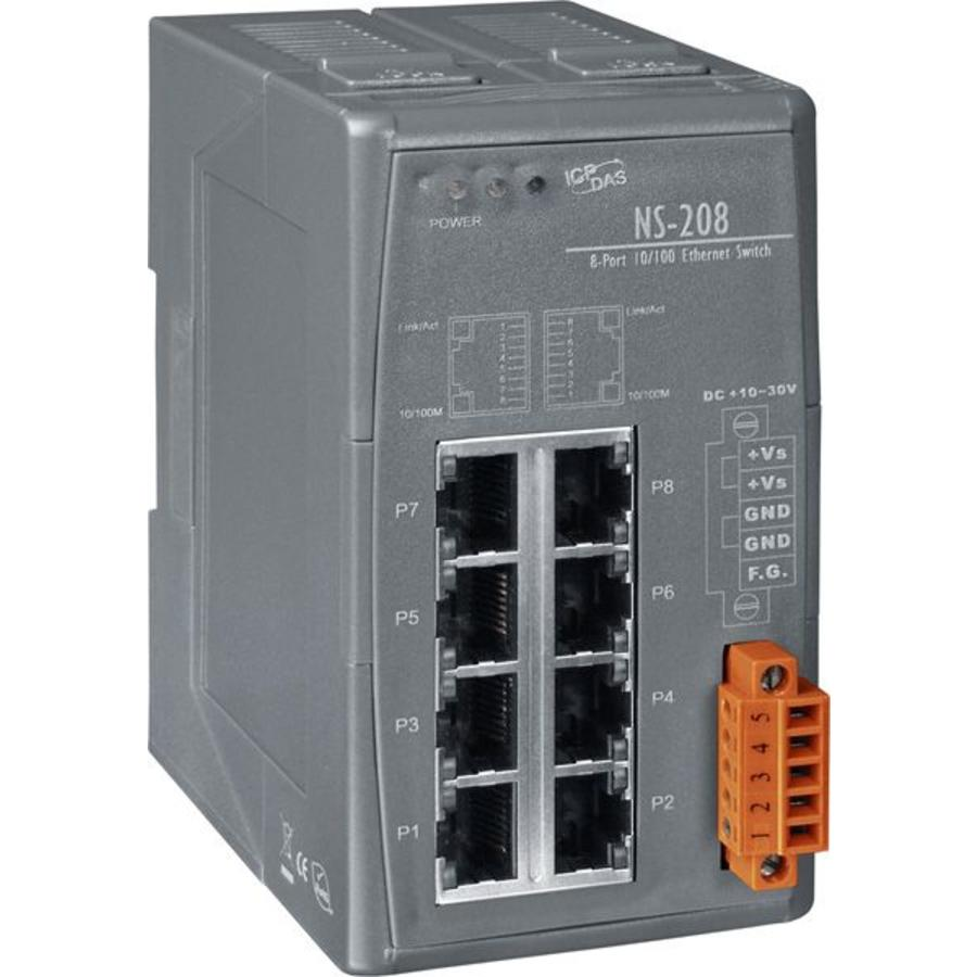 NS-208-CR Ethernet Switch/8 Ports