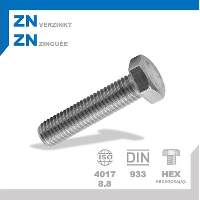 Boulon M5x30 ZN DIN933 (1 pc.)