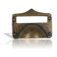 SIRO tirant cuvette pour tiroir à porte étiquette bronzé n°1682