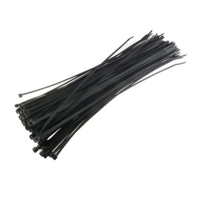 100 colliers de serrage 3,5x200mm noir