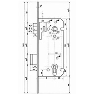 Dyla serrure de porte intérieur 100 [110mm]
