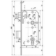 Dyla serrure de porte intérieur 112 [72mm]