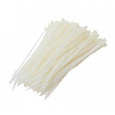 100 colliers de serrage 4,8x380mm blanc