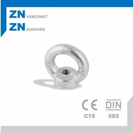 Oogmoer M12 DIN582 ZN