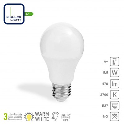 Müller Licht LED-Lamp E27 5,5W (40W) 470Lm
